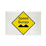 Speed Bump Sign - Rectangle Magnet (100 pack)
