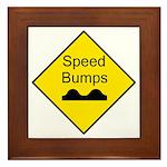 Speed Bump Sign - Framed Tile