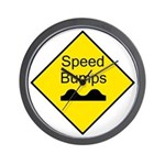 Speed Bump Sign - Wall Clock