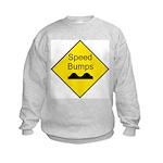 Speed Bump Sign - Kids Sweatshirt