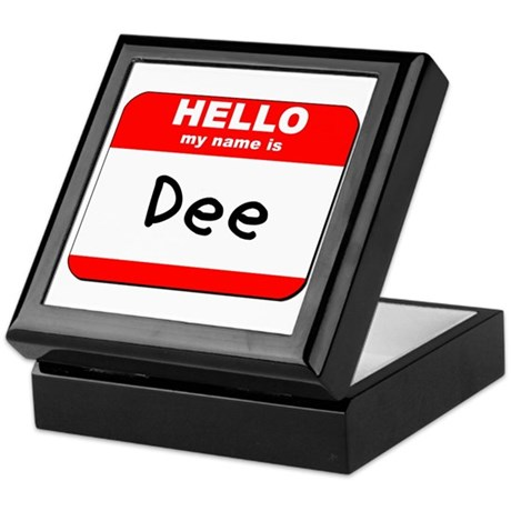 Hello my name is Dee Keepsake Box