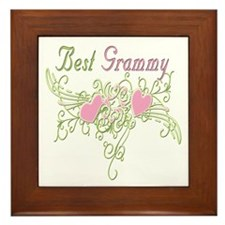 Best Grammy Hearts Framed Tile