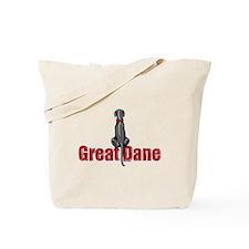 Black Great Dane UC Sit Tote Bag