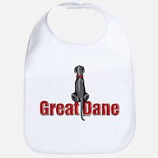 Black Great Dane UC Sit Bib