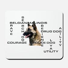 BELGIAN MALINOIS CROSSWORD Mousepad