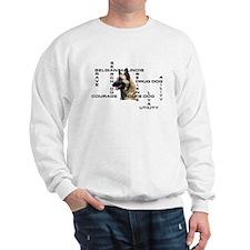 BELGIAN MALINOIS CROSSWORD Sweatshirt