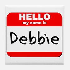 Hello my name is Debbie Tile Coaster