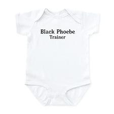 Black Phoebe trainer Infant Bodysuit