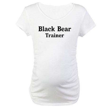 Black Bear trainer Maternity T-Shirt