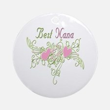 Best Nana Hearts Ornament (Round)