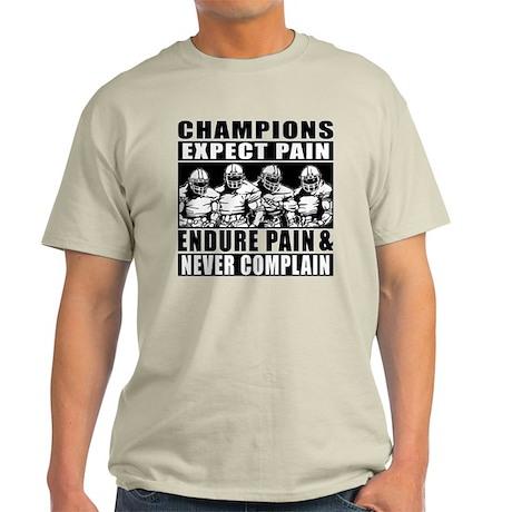 Football Champions Never Complain T Shirt By Megasportsfan
