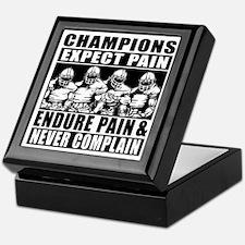 Football Champions Never Complain Keepsake Box