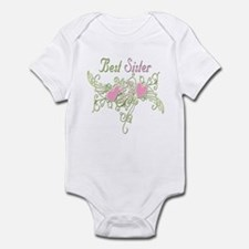 Best Sister Hearts Infant Bodysuit