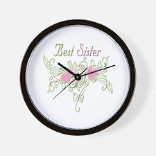 Best Sister Hearts Wall Clock