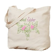 Best Sister Hearts Tote Bag