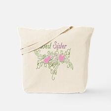 Best Sister Hearts Tote Bag