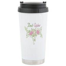 Best Sister Hearts Stainless Steel Travel Mug