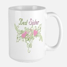 Best Sister Hearts Mug
