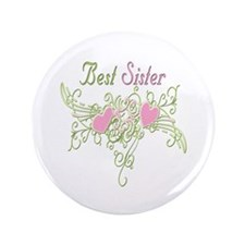 """Best Sister Hearts 3.5"""" Button"""