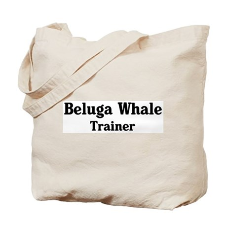 Beluga Whale trainer Tote Bag