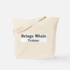 Beluga Whale trainer Tote Bag