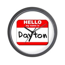 Hello my name is Dayton Wall Clock