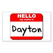 Hello my name is Dayton Rectangle Decal