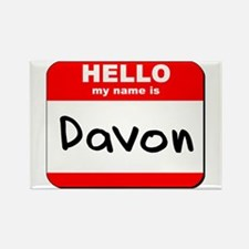 Hello my name is Davon Rectangle Magnet