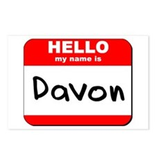 Hello my name is Davon Postcards (Package of 8)