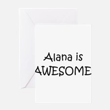 Cute Alana Greeting Card