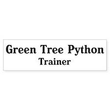 Green Tree Python trainer Bumper Bumper Sticker