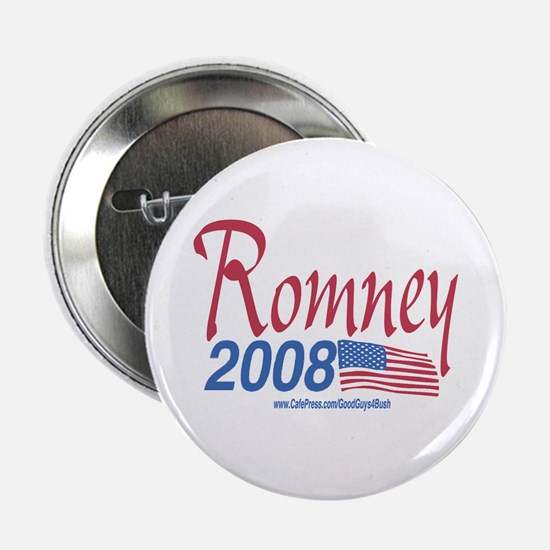 Romney for President 2008 Flag Button