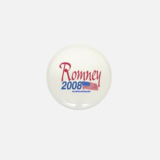 Romney for President 2008 Flag Mini Button