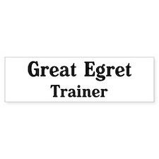 Great Egret trainer Bumper Bumper Sticker