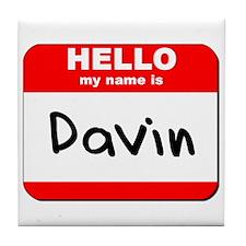 Hello my name is Davin Tile Coaster