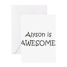 Alyson Greeting Card