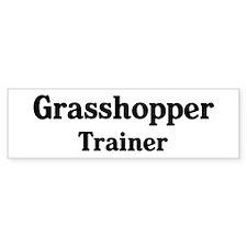 Grasshopper trainer Bumper Car Sticker