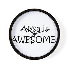 Cool Alysa Wall Clock