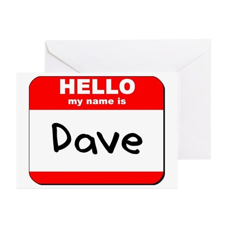 Hello my name is Dave Greeting Cards (Pk of 10)