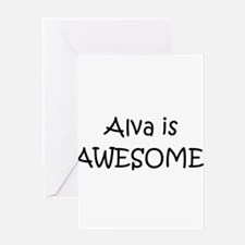 Cute Alva awesome Greeting Card