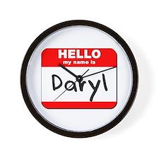 Hello my name is Daryl Wall Clock