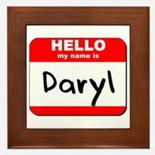 Hello my name is Daryl Framed Tile