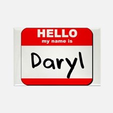 Hello my name is Daryl Rectangle Magnet