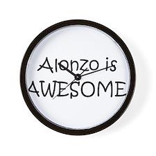 Unique I love alonzo Wall Clock