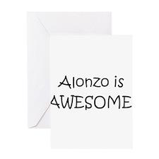 Cute I love alonzo Greeting Card