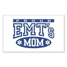 Proud EMT's Mom Rectangle Decal