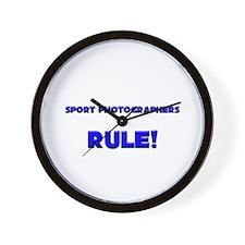 Sport Photographers Rule! Wall Clock