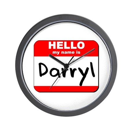Hello my name is Darryl Wall Clock