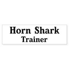 Horn Shark trainer Bumper Bumper Sticker