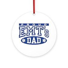 Proud EMT's Dad Ornament (Round)